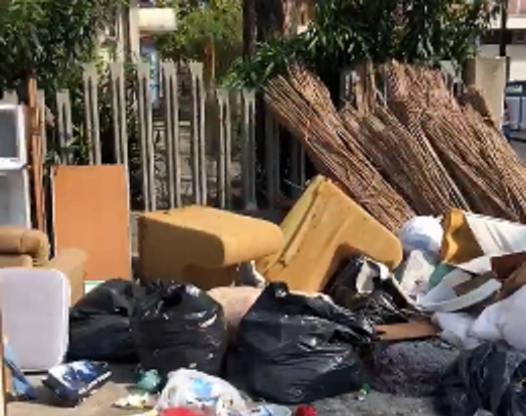 Montesilvano, ancora discariche: cumuli di rifiuti in via Lazio VIDEO