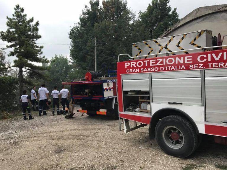 Teramo, incendi: la protezione civile Gran Sasso si prepara per l'emergenza