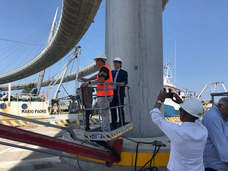 Pescara, il sollevamento si è concluso in anticipo: Ponte del Mare riaperto