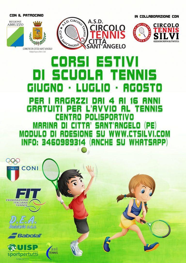 Corsi gratuiti di tennis all'Asd Circolo Tennis Silvi
