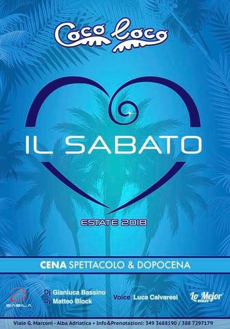 Coco loco: sabato 14 luglio torna l'appuntamento con il divertimento  Alba Adriatica