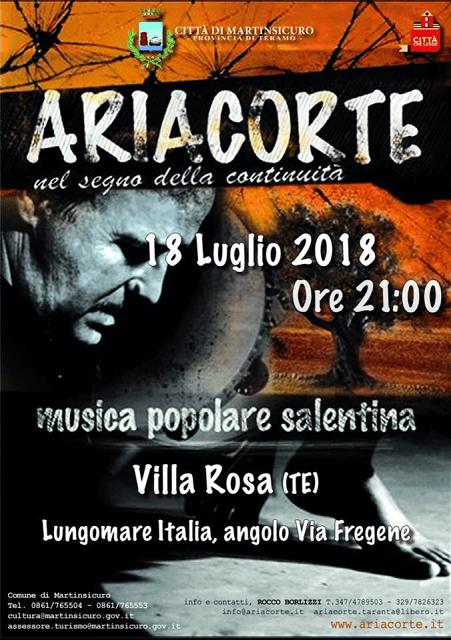 Festa Popolare: ARIACORTE nel segno della continuità| Villa Rosa
