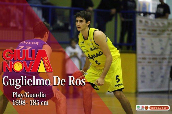 Giulianova Basket, il nuovo rinforzo è Guglielmo De Ros