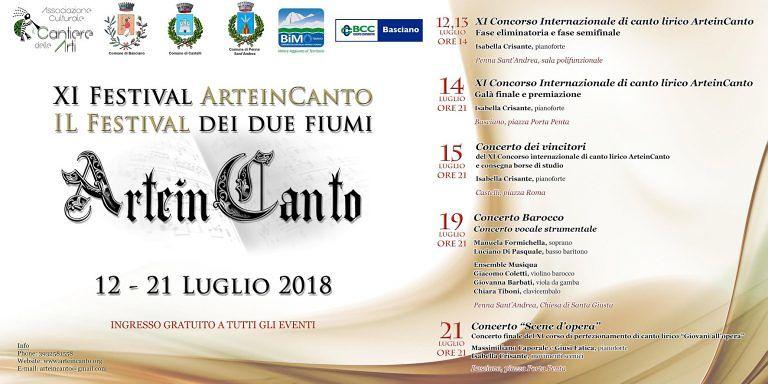 Festival ArteinCanto: torna la musica lirica tra Basciano, Castelli e Penna Sant'Andrea