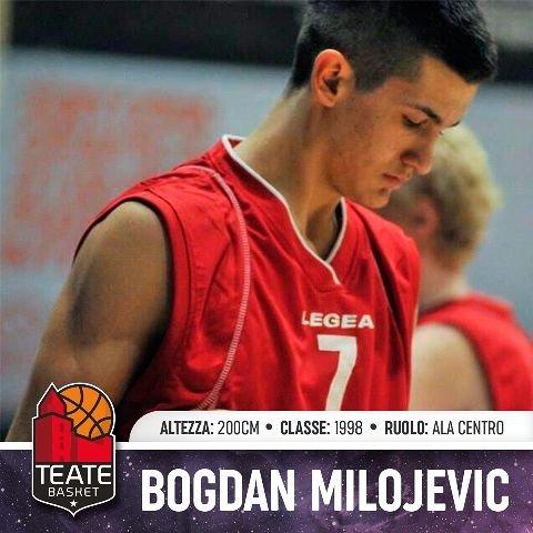 Teate Basket Chieti, che colpo: preso il talento serbo Bogdan Milojevic