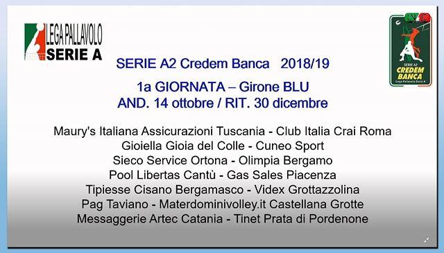 Pallavolo, resi noti i calendari di SuperLega e Serie A2