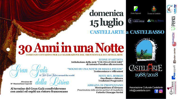 Trent'anni in una notte: Castellarte viene celebrata a Castelbasso