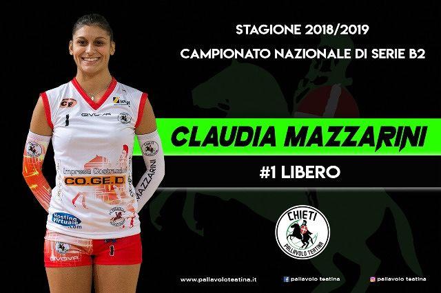 La certezza in ricezione e in difesa: Claudia Mazzarini ancora a Chieti