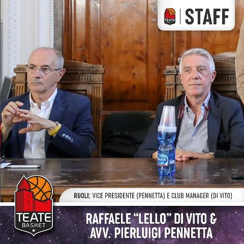 Teate Basket Chieti, la dirigenza prende forma: ufficializzati il vicepresidente e il club manager