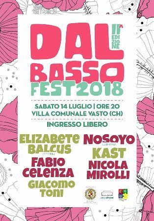 """Vasto, tutto pronto per la seconda edizione di 'Dal Basso Fest""""'"""