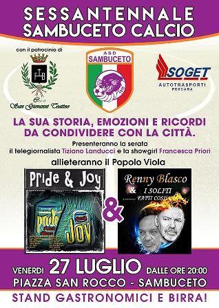 Festa per il sessantesimo anniversario del Sambuceto Calcio