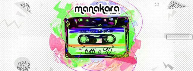 "Manakara Beach Club: nuovo sabato sera ""Tutti a 90″  Alba Adriatica"
