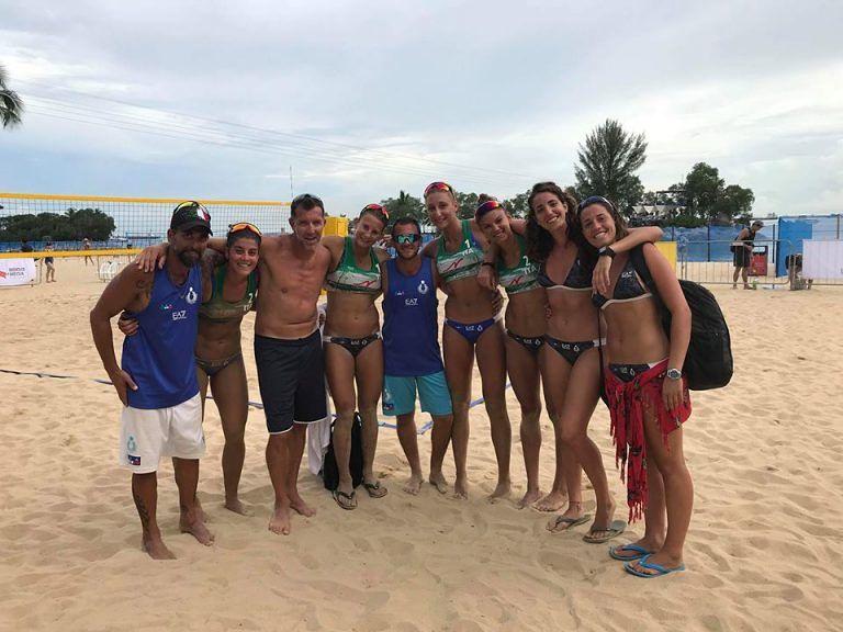 Beach volley, stage della Nazionale donne a Martinsicuro, Alba e Giulianova