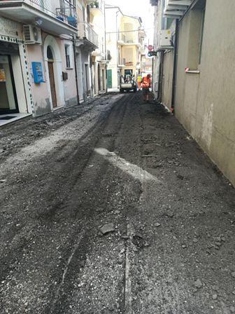 Orsogna, cominciati i lavori sulle strade del centro