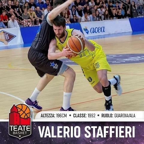 La Teate Basket ingaggia Valerio Staffieri