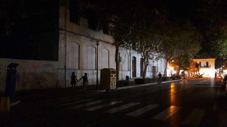 Giulianova, black out su viale Orsini FOTO/VIDEO