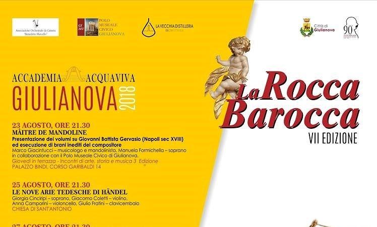 """Giulianova: il Festival """"La Rocca barocca"""" giunge al termine con il gran finale firmato Angelo Smimmo"""