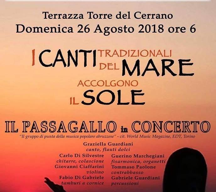 """Pineto, il concerto de """"Il Passagallo"""" risveglia la Torre all'alba"""
