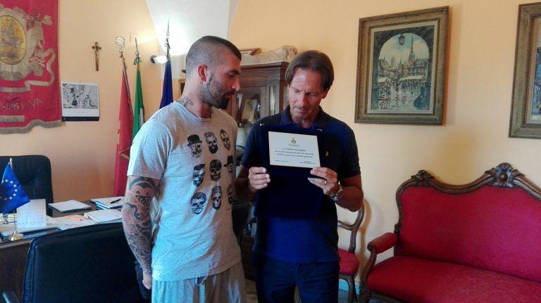 Giulianova, soccorse per primo ragazzino folgorato: encomio per l'ex portiere giallorosso