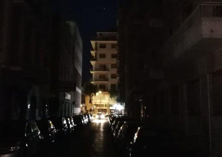Pescara, via Milano e via Genova al buio FOTO