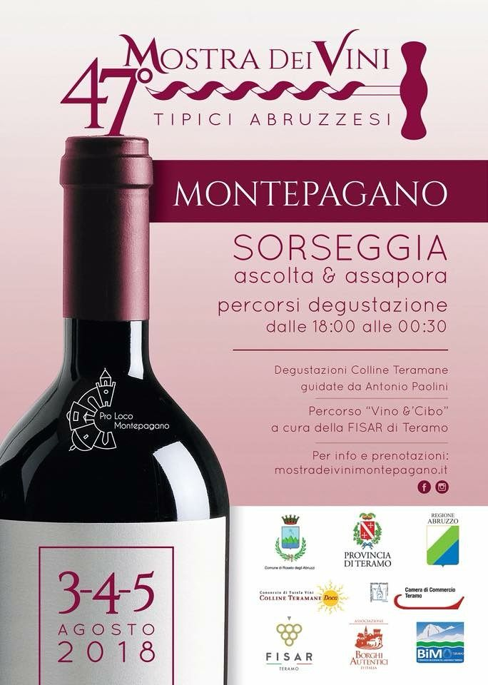 Roseto, torna la Mostra dei vini a Montepagano tra innovazione e tradizione