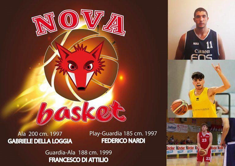 Basket, tris di acquisti per la Nova Campli