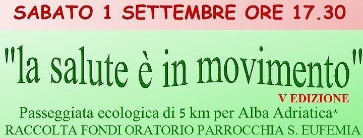 Alba Adriatica, domani l'appuntamento con la passeggiata della salute