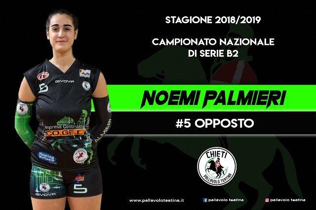 L'ultimo tassello: Noemi Palmieri rimane alla Coged