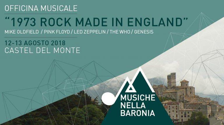 Rock Made in England a Castel del Monte: l'Officina Musicale raddoppia