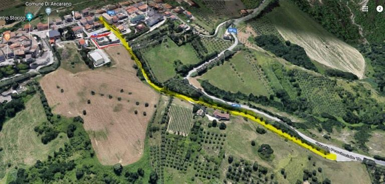 Ancarano, riapre il cantiere per la sistemazione di via Carrozza