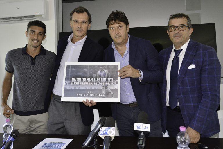 La Pescara Calcio lancia i bond biancazzurri VIDEO