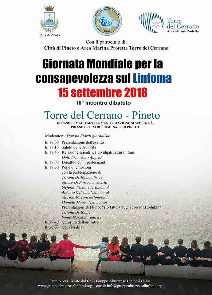Pineto, Giornata Mondiale per la consapevolezza sul Linfoma