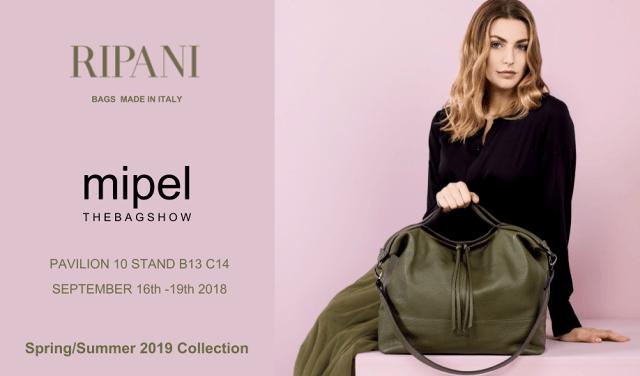 RIPANi presenta la nuova collezione P/E 2019 al Mipel The Bag Show| Tortoreto
