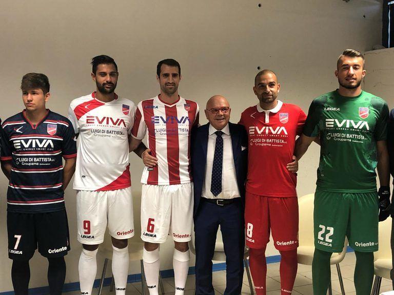 Serie C, Eviva nuovo main sponsor del Teramo Calcio LE NUOVE MAGLIE