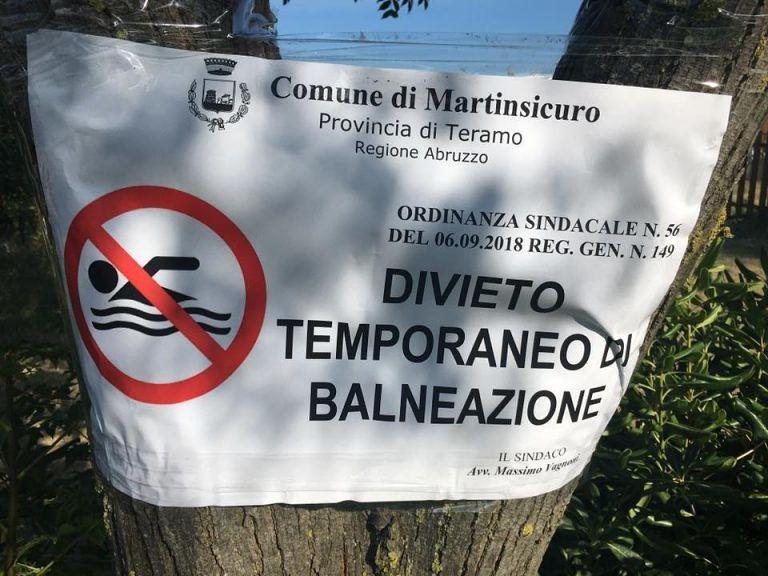 Martinsicuro, divieto di balneazione non comunicato: la polemica
