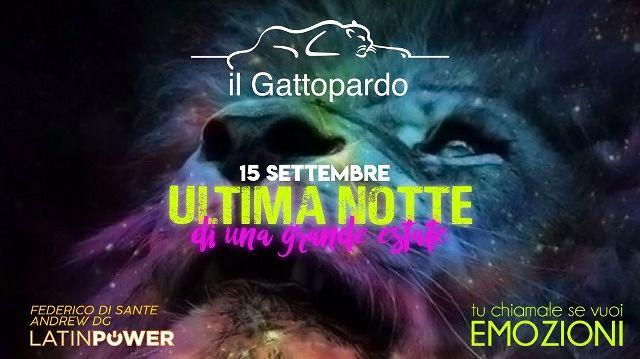 Gattopardo: questa sera 15 settembre ultimo appuntamento estivo  Alba Adriatica