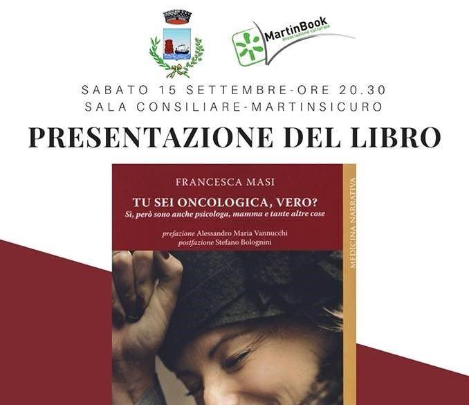 """Martinsicuro, """"Tu sei oncologa, vero?"""" In sala consiliare il libro di Francesca Masi"""