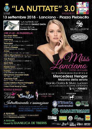Miss Lanciano e la discoteca in piazza Plebiscito 'accendono' la Nottata