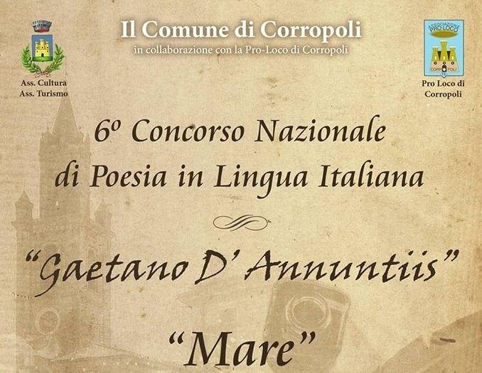 Corropoli, ecco il bando del Premio di poesia Gaetano D'Annuntiis. Il tema è il mare