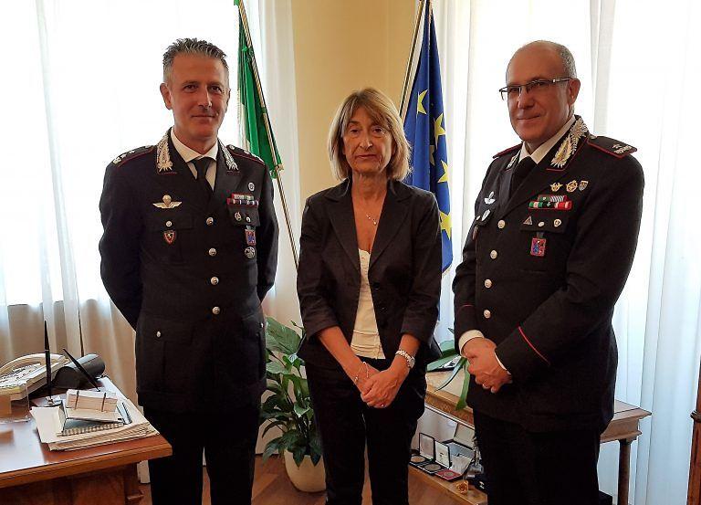 Teramo, visita dal prefetto del comandante della Legione dei carabinieri