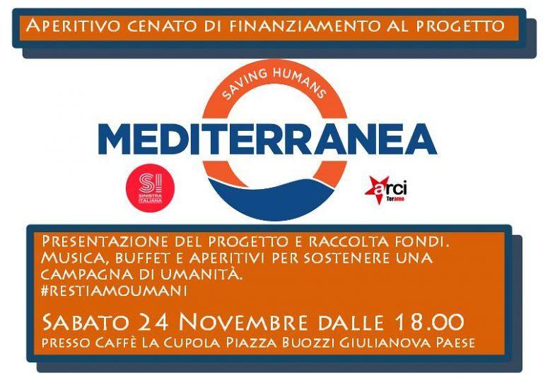 Giulianova, apertitivo a sostegno di Mediterranea