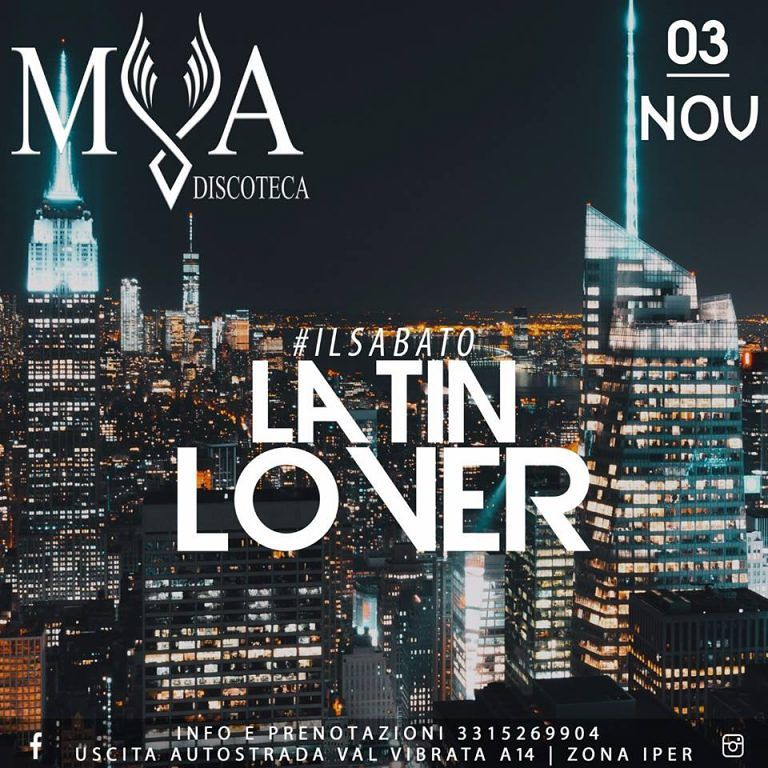 "ILSABATO""LATIN LOVER"" la serata caraibica targata MYA!"