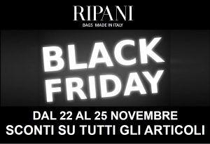RIPANI Bags ARRIVA IL BLACK FRIDAY! dal 22 al 25 novembre