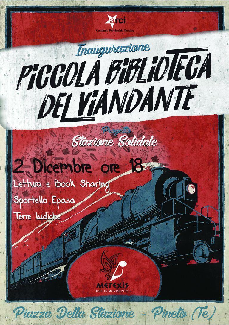 """Pineto, domenica l'inaugurazione in stazione della """"Piccola biblioteca del viandante"""""""