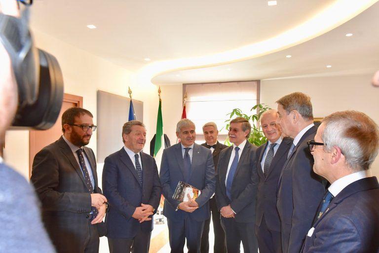 L'Aquila, l'ambasciatore russo alla Santa Sede in visita all'Emiciclo