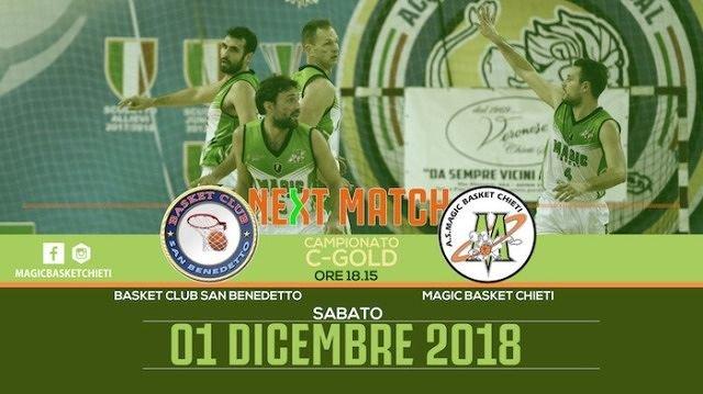 La Magic Basket Chieti di scena a San Benedetto del Tronto