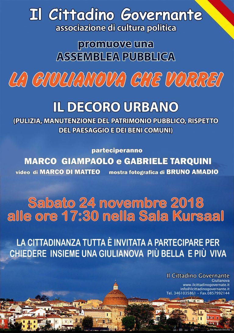 Il Cittadino Governante illustra la 'Giulianova che vorrei' con Tarquini e Giampolo testimonial