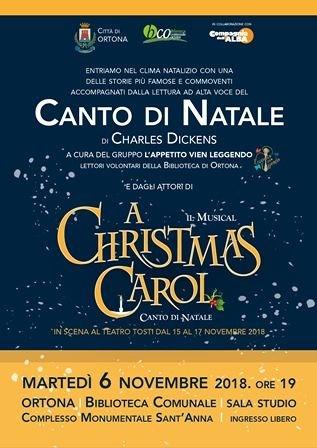 Ortona, 'Letture d'autore': 'Il canto di Natale' in biblioteca