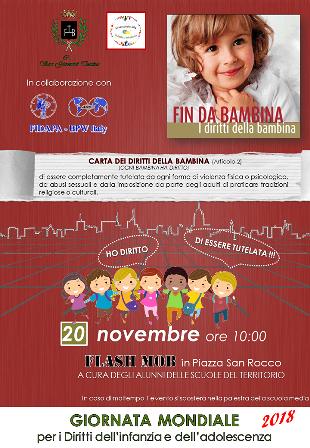 San Giovanni Teatino, flash mob per i diritti dell'infanzia e dell'adolescenza