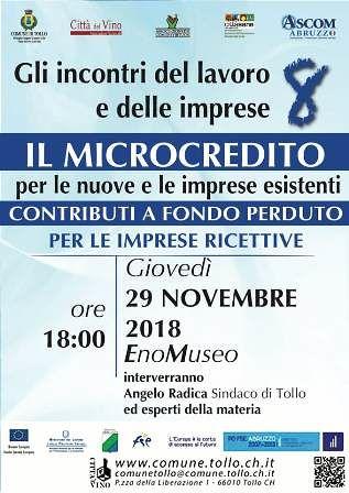 Tollo, Microcredito: incontro all'EnoMuseo